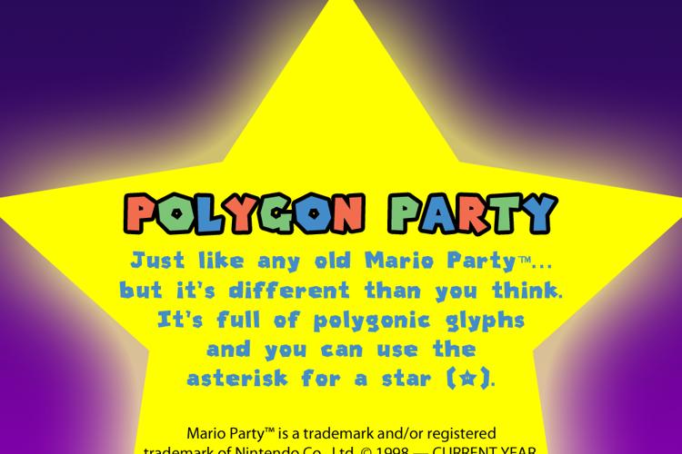 Polygon Party Font