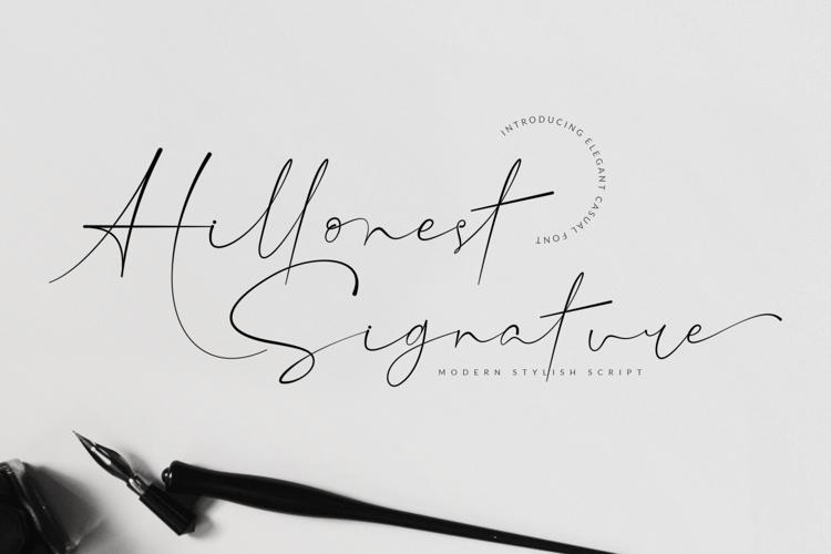 Hillonest - Modern Signature Script Font