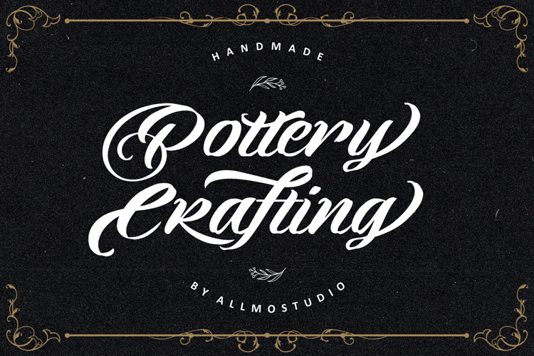 Pottery Crafting Font