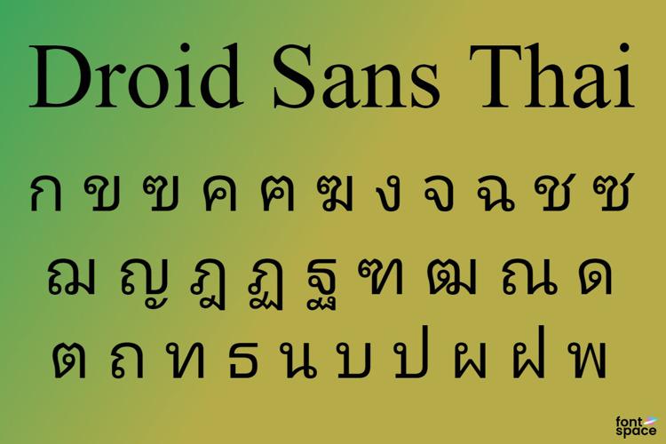 Droid Sans Thai Font