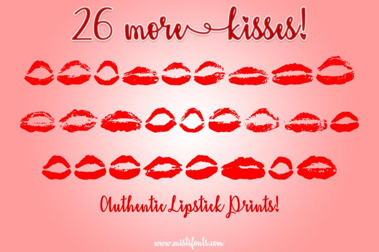 26 More Kisses Font