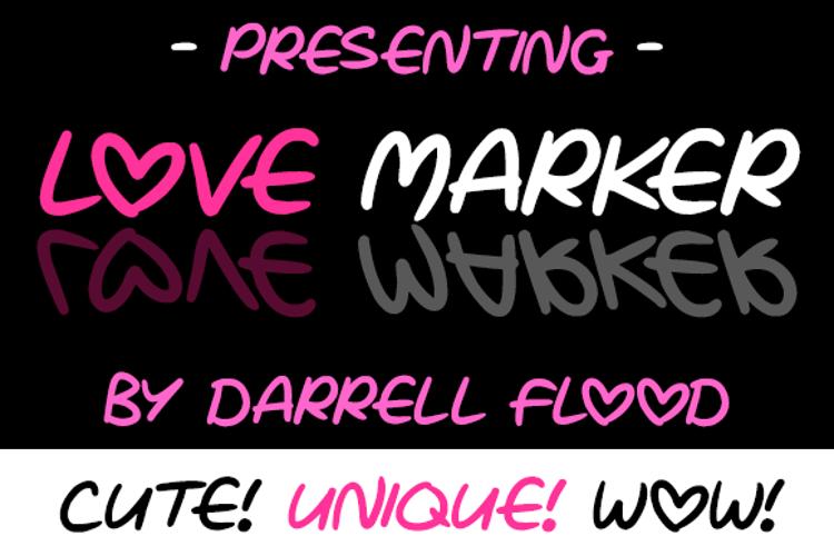 Love Marker Font