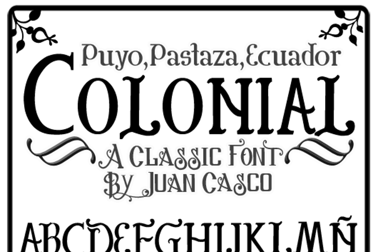 Colonial Font