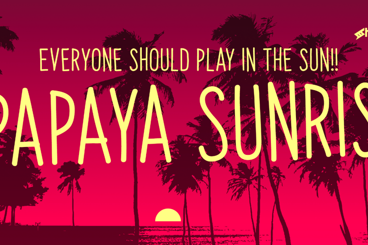 Papaya Sunrise Font