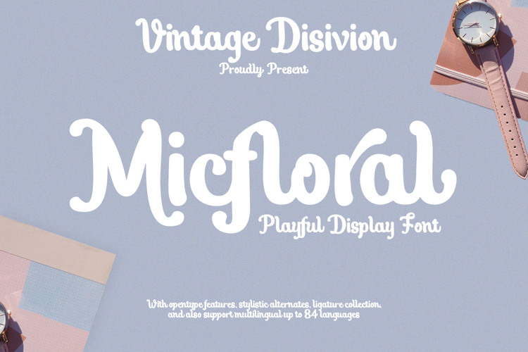 Micfloral Font