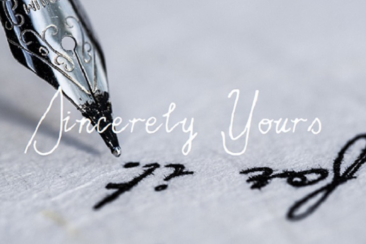 Sincerely Yours Font