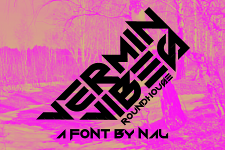 Vermin Vibes Roundhouse Font