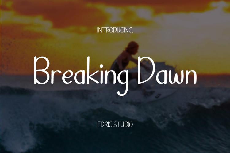 Breaking Dawn Font