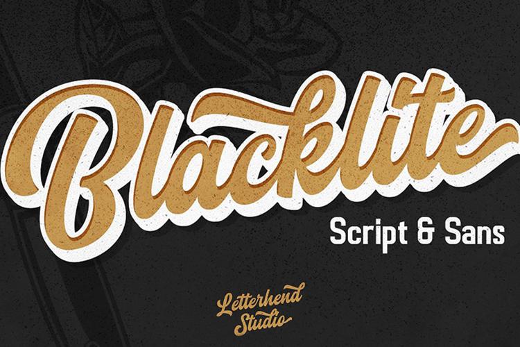 Blacklite Script Font