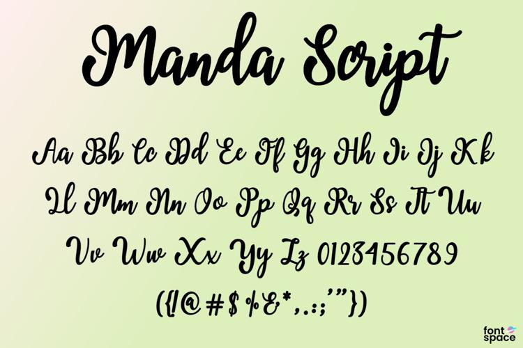 Manda Script Font
