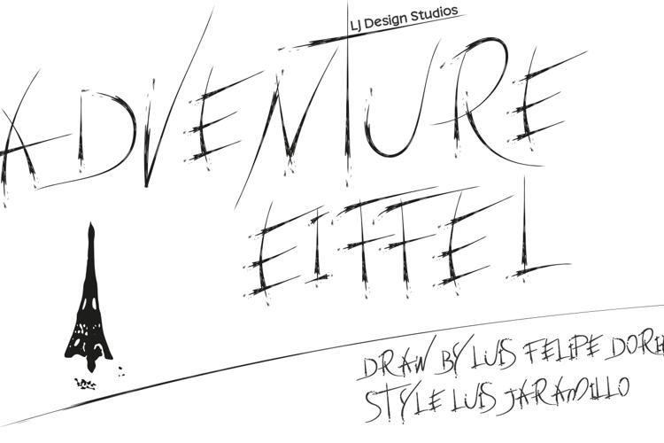 adventure Eiffel Font