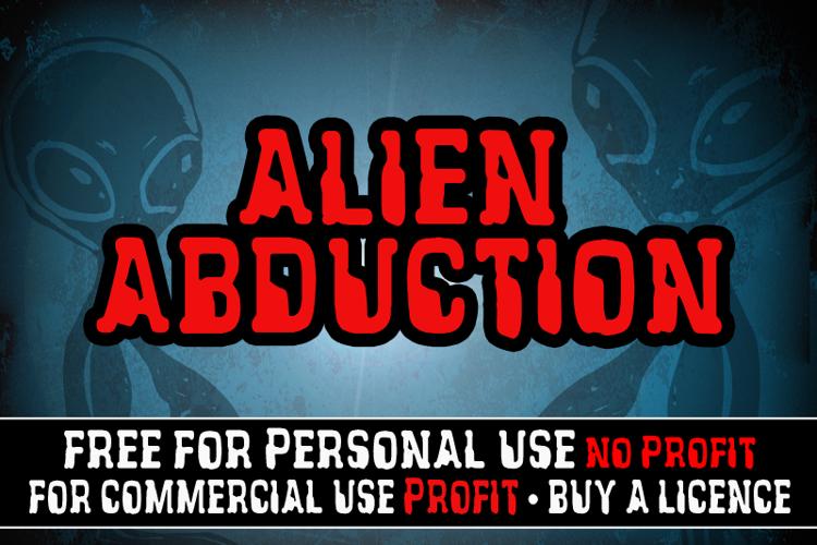 CF Alien Abduction Font