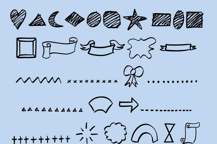 Doodle Shapes Font