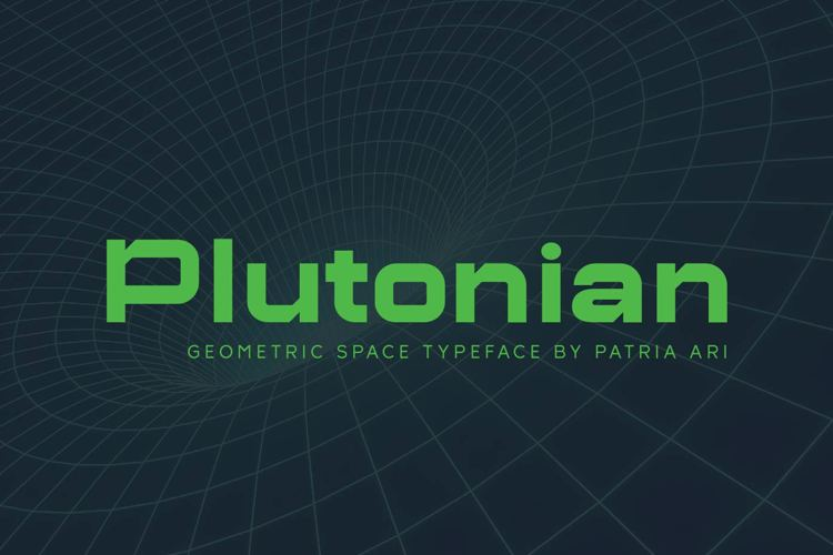 Plutonian Thin Font