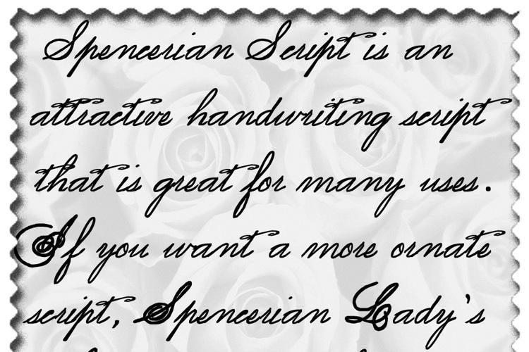 Spencerian Lady's Hand SW Font