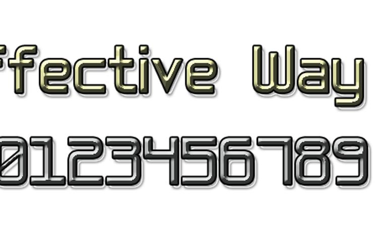Effective Way 7 Font