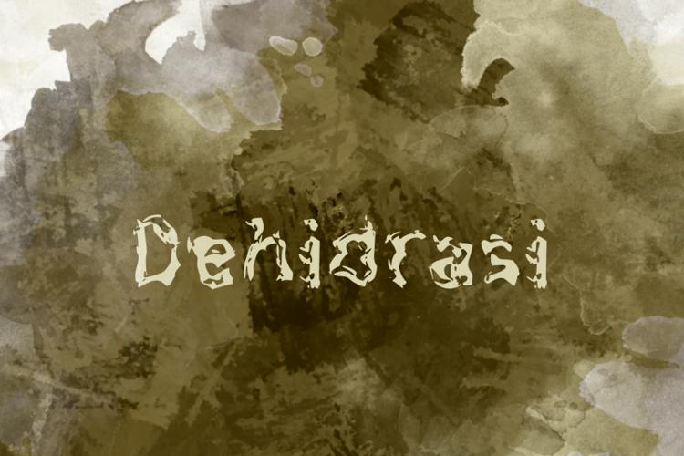 d Dehidrasi Font