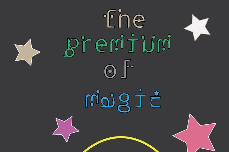 The premium of magic Font