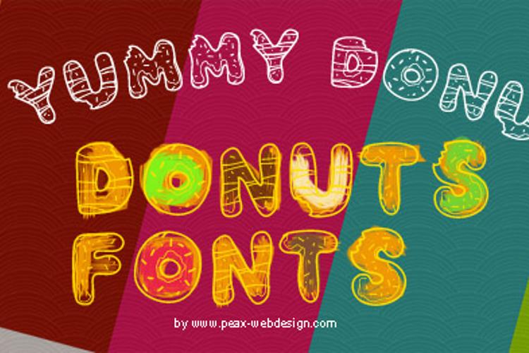 PWYummyDonuts Font
