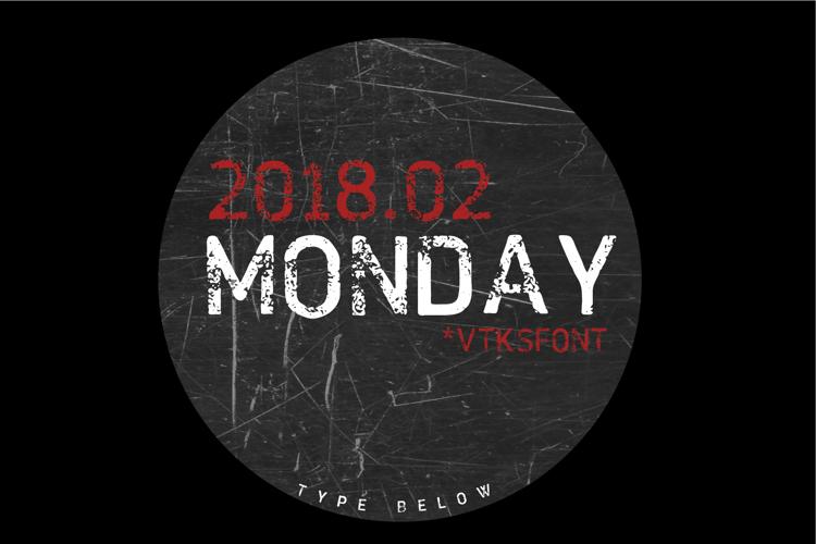 VTKS MONDAY Font