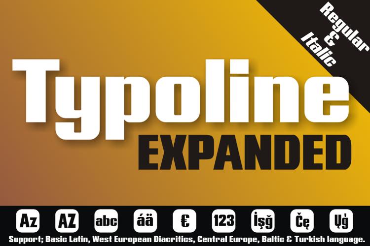 Typoline Expanded Font