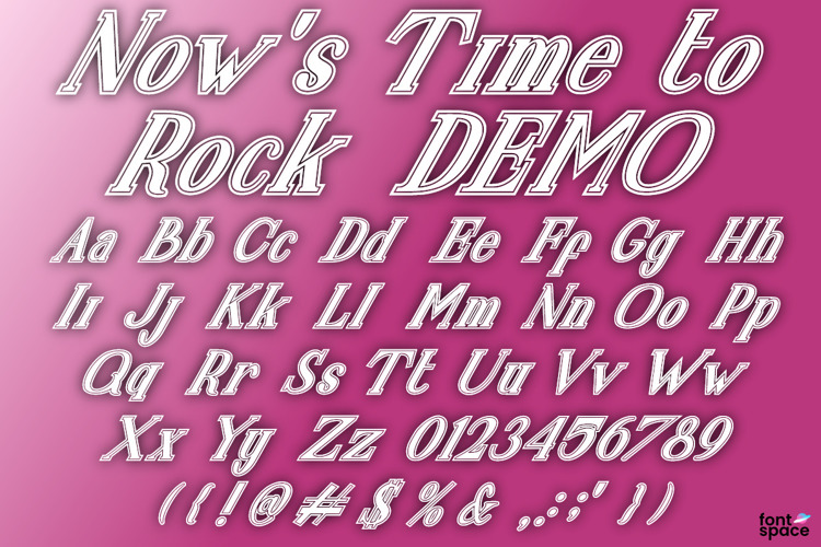 Now's Time to Rock Font