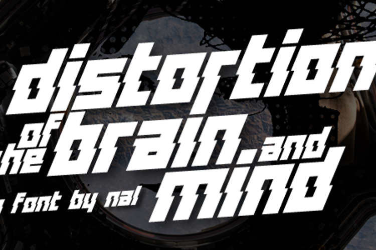 Distortion Of The Brain And Min Font