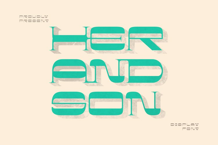 Her and son Font