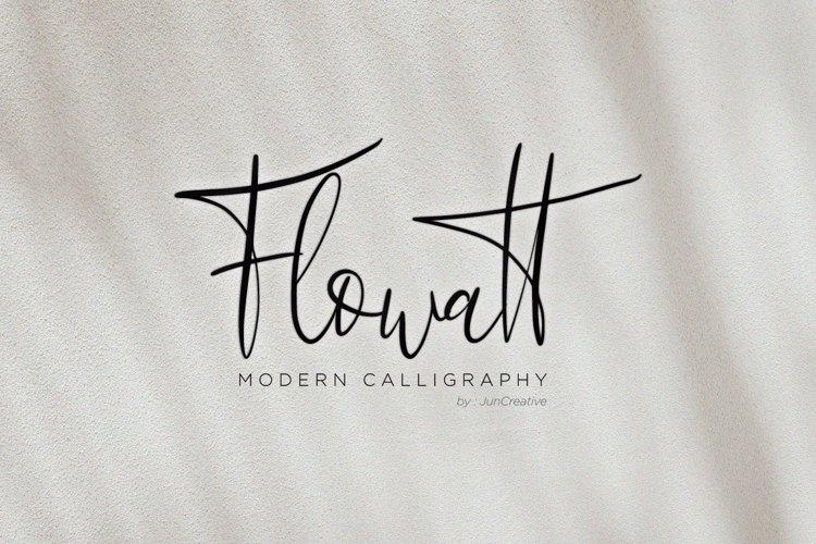 Flowatt Script Font