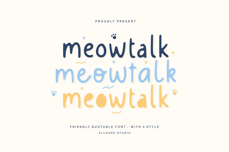 Meowtalk Font