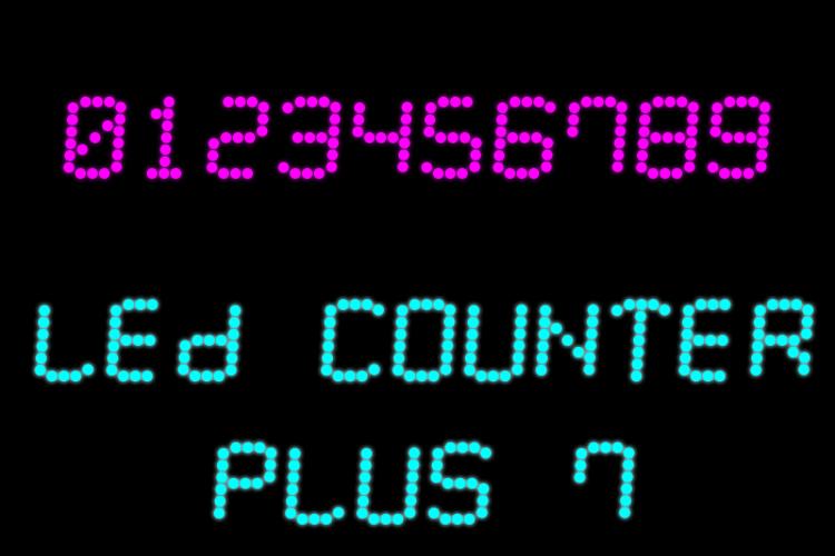 LED Counter Plus 7 Font