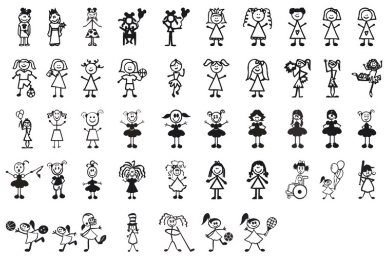 Girl Characters Font
