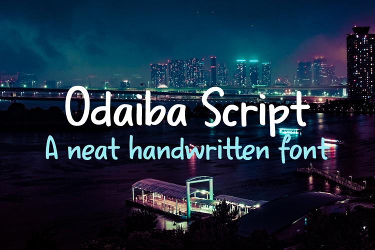 Odaiba Script Font