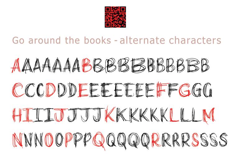 go around the books Font