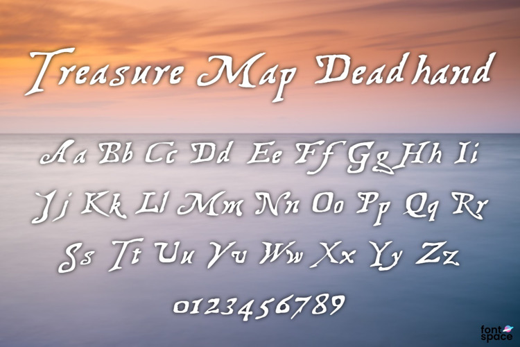 Treasure Map Deadhand Font