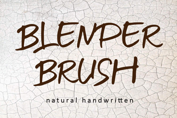 BLENDER BRUSH Font