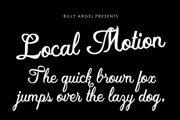Local Motion personal Font