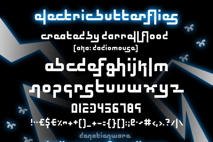 Electric Butterflies Font