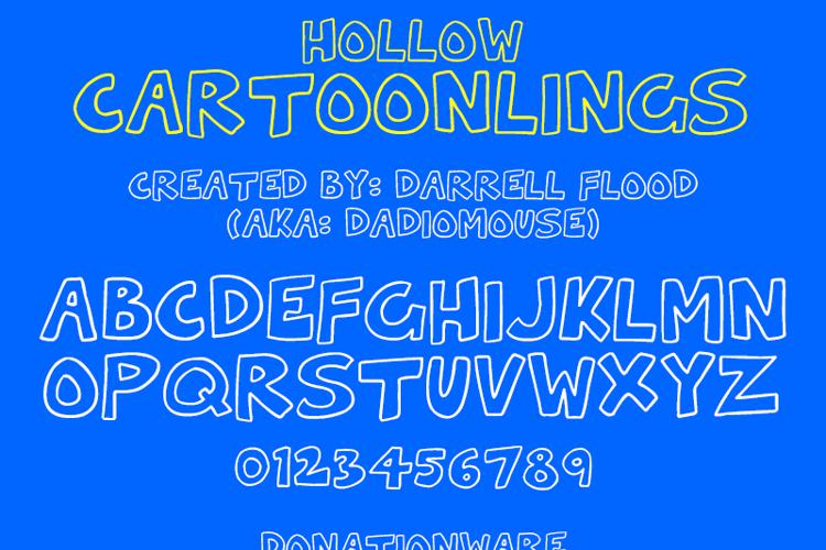 Hollow Cartoonlings Font
