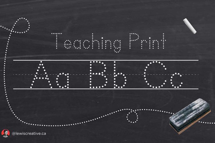 Teaching Print Font