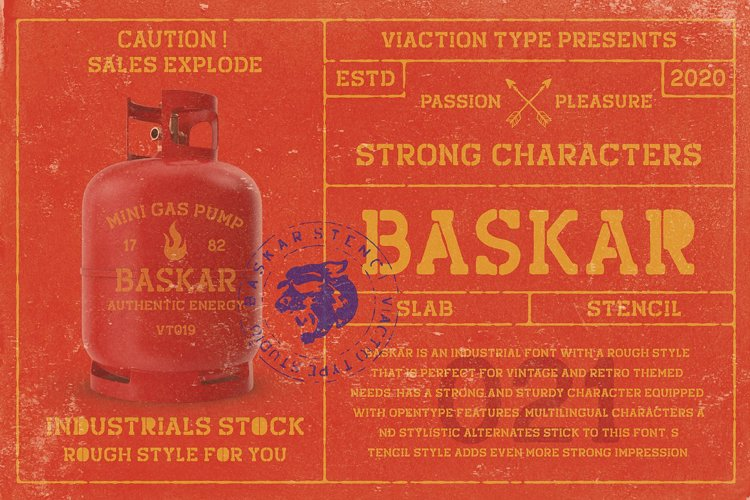 Baskar Stencil Font