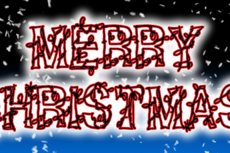 CF Christmas **** Font