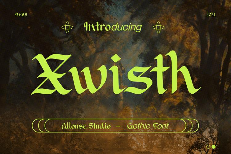 Xwisth Font