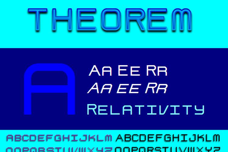 Theorem NBP Font