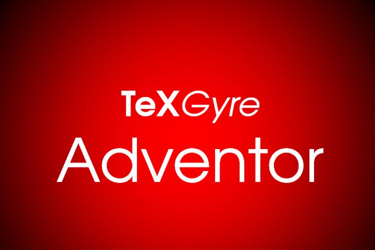 TeXGyreAdventor Font