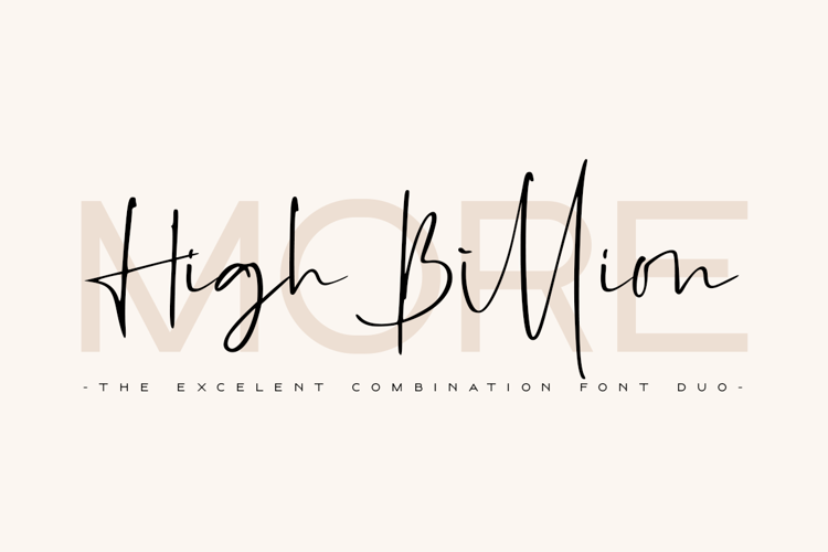 High Billion Sans Font