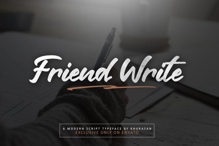 Friend Write Font
