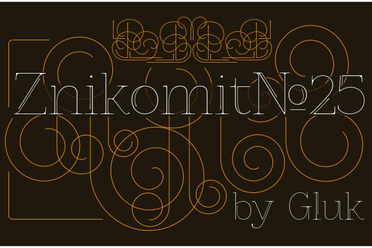 ZnikomitNo25 Font