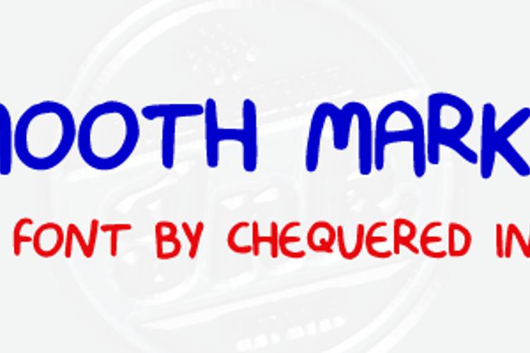 Smooth Marker Font