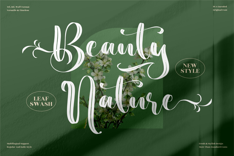Beauty Nature Font